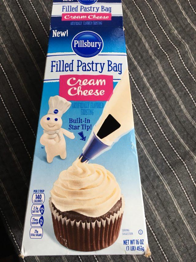 Phillsbury cream cheese frosting cupcakes