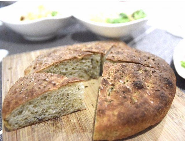 Herby focaccia bread