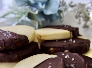 Chocolate Dipped Sugar Cookies w/Sea Salt
