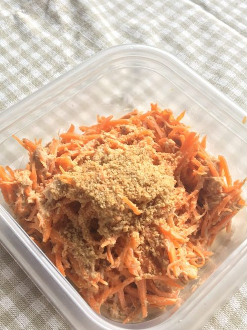 Carrot and tuna salad(refrigerate for 4 days)