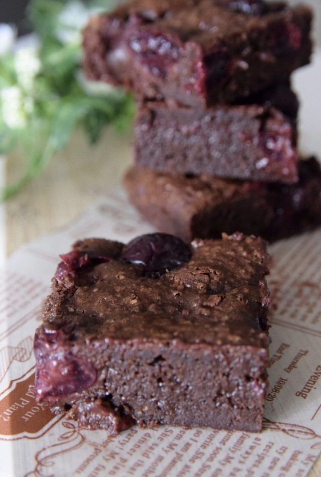 Dark Cherry Brownies