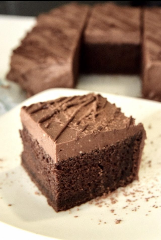 Chocolate Cake w/Whipped Chocolate Cream Frosting