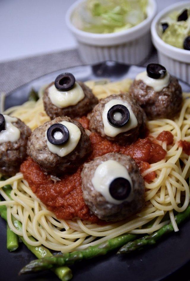 Eyeball Meat Ball Spaghetti