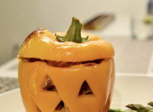 Halloween Stuffed Pepper