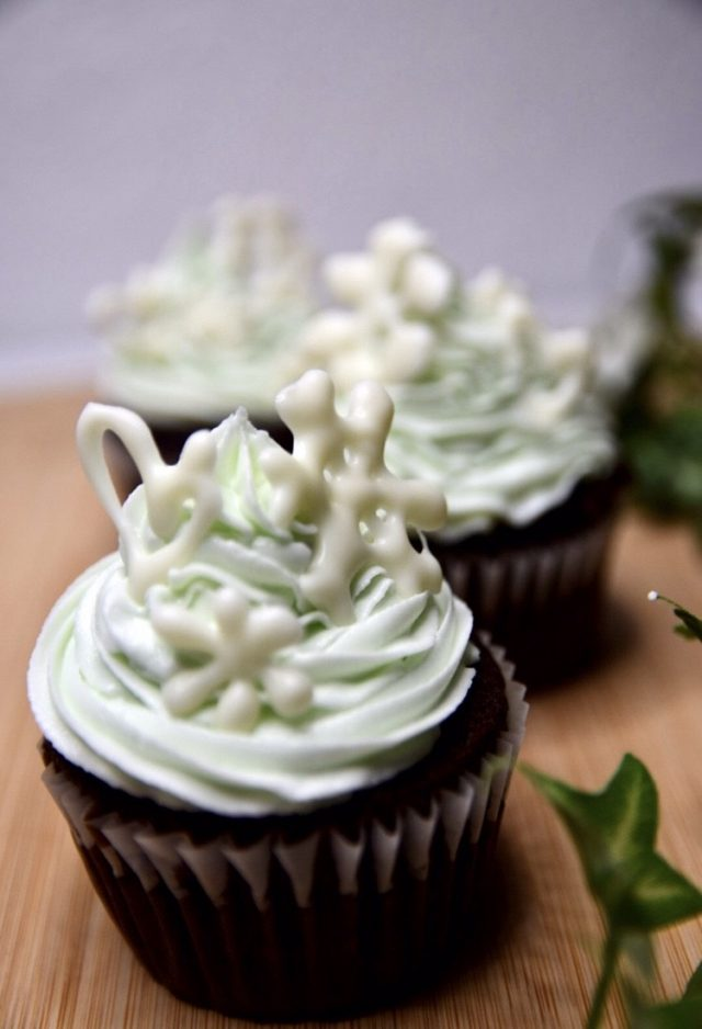 Christmas Vacation and White Chocolate Frosting Cupcakes